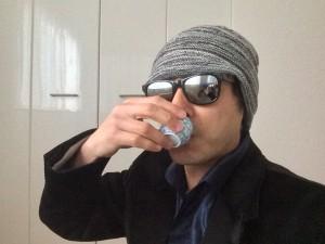 ヌーベル月桂冠特別本醸造の熱燗一気飲み