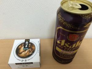 缶つまプレミアム 牡蠣燻製の箱比較