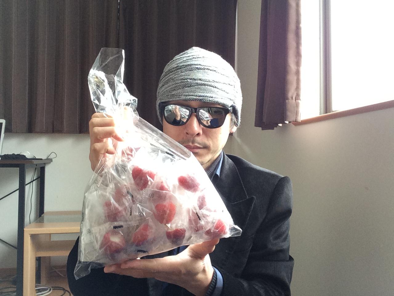 摘み 苺 アイス 春