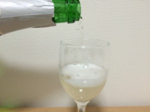 マンズ スパークリングワイン「甲州 酵母の泡ブリュット」開栓済み