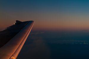 雲の上の夕日