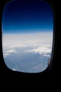 飛行機離陸後