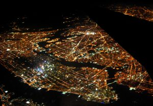 機内からの夜景