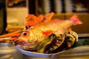 アワビと魚介類