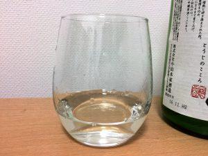 杜氏の心 大吟醸原酒をグラスに注いだところ