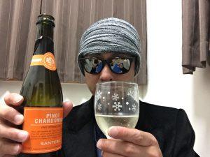 サンテロ ピノ シャルドネ スプマンテを飲んでみます